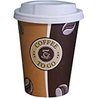 Becher Pappe einwandig weiß Kaffeebecher to go Einwegbecher Silverkitchen 200 ml