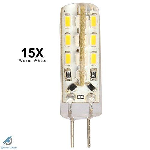 ELINKUME 15X New 12V DC G4 1.5W SMD 3014 24LED Light Bulbs Lamp warm white LED