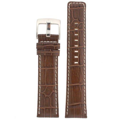 Cinturino in pelle marrone scuro sport Model 24Millimeter Tech Swiss
