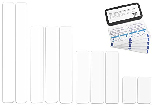 Selbstklebende Planenreparatur Tapes | 10 teilig | Easy Patch Comfort 50mm | Für Zelte, Planen uvm. | Weiß RAL 9010