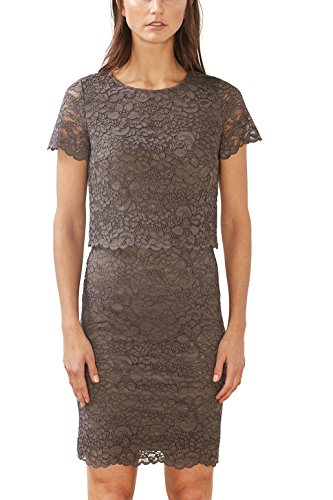 ESPRIT Collection Damen 017EO1E010 Kleid, Braun (Taupe 240), 38