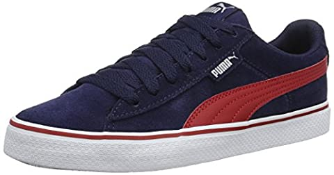 Puma Unisex-Kinder 1948 Vulc Jr Low-Top, Blau (Peacoat-Barbados Cherry 08), 36 EU