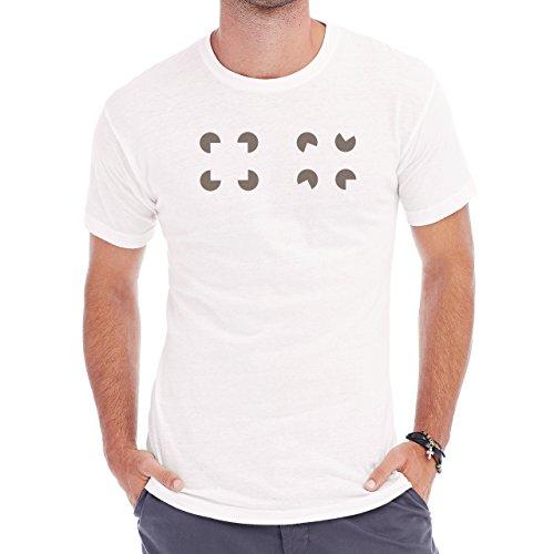 Pack Man Yellow Game Nintendo Grey Herren T-Shirt Weiß