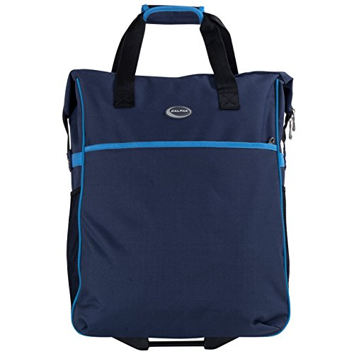 calpak-big-eazy-bright-check-20-inch-rolling-shopping-tote-bagnavy-blueone-size
