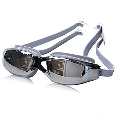 Z-P Unisex Waterproof Anti-fog High-definition Plating Mirror Big Frame Swimming Goggles