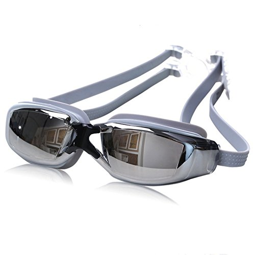 Z-P Unisex Waterproof Anti-fog High-definition Plating Mirror Big Frame Swimming Goggles