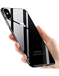 Funda iPhone X, Ubegood carcasa iPhone X TPU Funda Anti-Rasguño Anti-Golpes Cover Protectora TPU Caso Bumper Slim Silicona Case para iPhone X / iPhone 10 Protectora Funda - Transparent