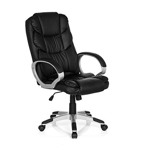 MyBuero XXL Chefsessel mit Armlehne Relax BY155 Kunstleder Schwarz Bürostuhl ergonomisch gepolstert 722300