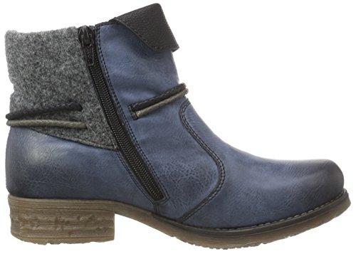 Rieker 79693, Bottes Classiques femme Bleu (ozean/schwarz/granit/schwarz / 14)