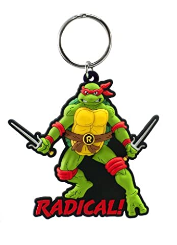 Teenage Mutant Ninja Turtles Raphael Laser Cut Rubber Porte-Clés