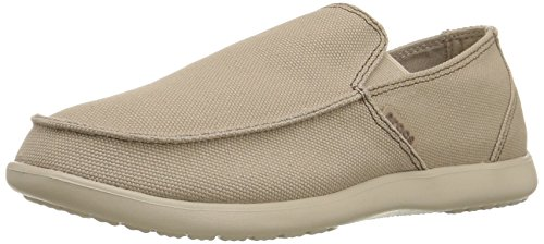 crocs Santa Cruz Clean Cut Loafer, Herren Slip-On, Braun (Khaki/Cobblestone), 41-42 EU (Zubehör Khaki)