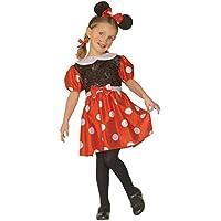 e676b7fd704d Costume Carnevale Bimba, Topolina, Topina PS 19623 Travestimento Cartooi  Animati