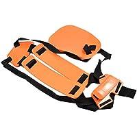 OUNONA Tragegurt Sicherheit Doppel Schultergurt Trimmer Gürtel Motorsense Rasentrimmer Kamera (Orange)