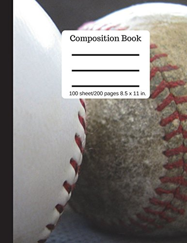 Composition Book 100 sheet/200 pages 8.5 x 11 in.: Softball Cover Notebook College Ruled (Composition Notebook Journal) por Goddess Book Press
