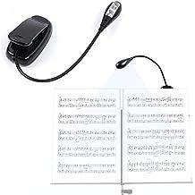DURAGADGET Lámpara Con Doble Luz LED Para Lectura De Partituras | Cuello De Cisne - Funciona Con Pilas - Alta Calidad