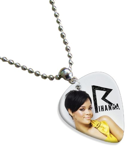 Rihanna Double Sided Guitar Plektrum Plektron Pick Chain, Kette