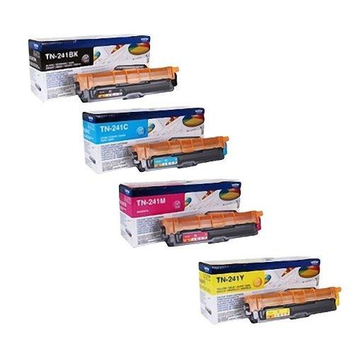 Preisvergleich Produktbild 4x Original XL Toner für Brother MFC 9330 CDW - BK,  Cy,  Ma,  Ye + 500 Blatt Ti-Sa Kopierpapier 80g weiß - Leistung: BK ca. 2500 / Farben ca. 2200 Seiten