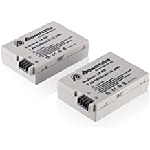 Powerextra 2 Unidades 7.4V 1800mAh LP-E8 Reemplazon Batería Rercargable para Canon Rebel T3i, T2i, T4i, T5i, EOS 600D, 550D, 650D, 700D, Kiss X5, X4, Kiss X6, LC-E8E