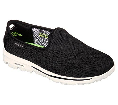 Skechers Gowalk Miscela slittamento leggero On Sneaker Black wht