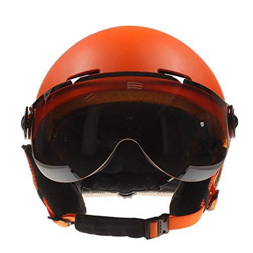 Blue-Yan Einteiliger Skischutzhelm mit Skibrille, Unisex-Outdoor-Skischutzset für Snowboarden, Motorradfahren und Motorschlittenfahren