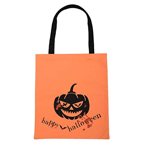 Myspace 2019 Neueste Dekoration für Halloween Halloween niedliche Hexen Candy Bag Canvas Tote Shopping Handtasche Orange