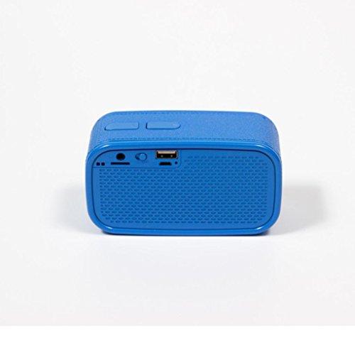 Bescita Tragbare drahtlosen Bluetooth Stereo FM Lautsprecher mit Radio für Smartphone Tablet Laptop (blau) (Drahtlosen Fm-bluetooth)