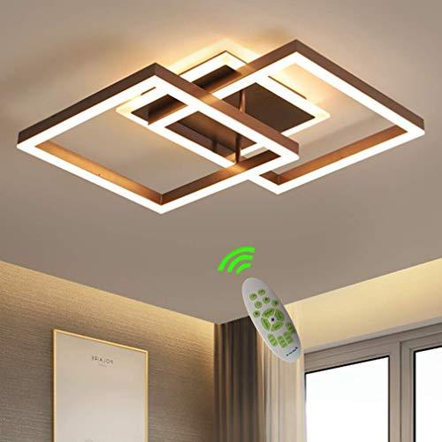LED Dimmbare Deckenleuchte Schlafzimmerlampe Moderne Mode Esszimmer Deckenlampe Minimalistisches Metall Acryl 2-Quadrat Ring Design Deckenleuchter Lampe Innendekor Lampe Beleuchtung Wohnzimmer Studie -