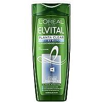 Champú LOréal Paris Elvital, Planta Clear, anticaspa equilibrante para cabello normal (