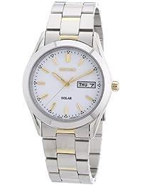Seiko Herren-Armbanduhr XL Solar Analog Edelstahl beschichtet SNE041P1