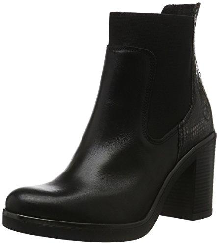 Bronx Damen Blue Kurzschaft Stiefel, Mehrfarbig (Black/Gunmetal 188), 38 EU (5UK) (Leder Heels High Bronx)