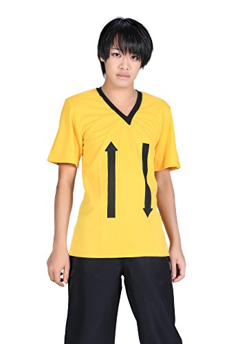 De-Cos DuRaRaRa!! Cosplay Costume Masaomi Kida Yellow Short Sleeve T-Shirt (Kostüme Kida)