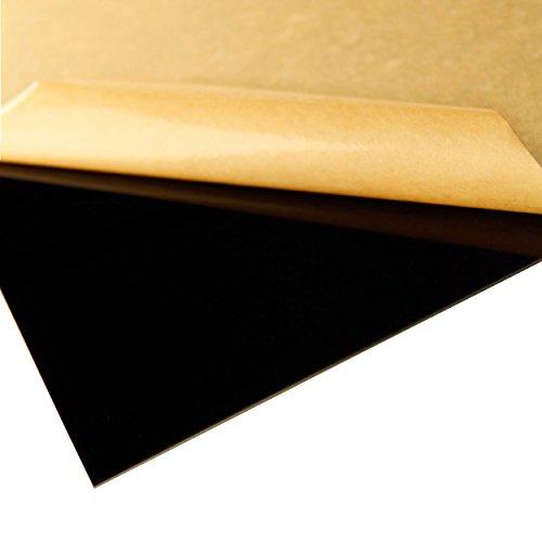 "Acrylic Sheet / Plexi Glass Black 12"" x 12"" x 3mm"