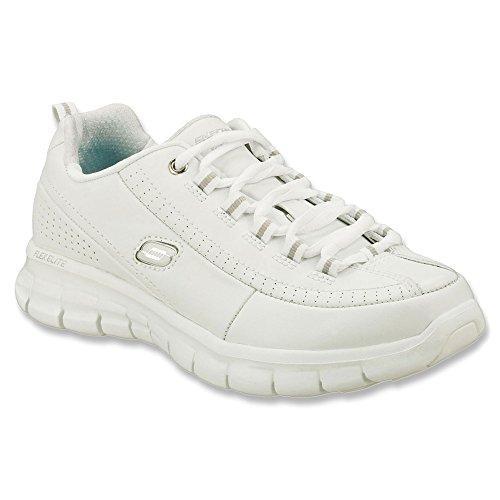 Skechers Synergy - Elite Calibro Walking Sneaker Comfort Shoe - Womens White