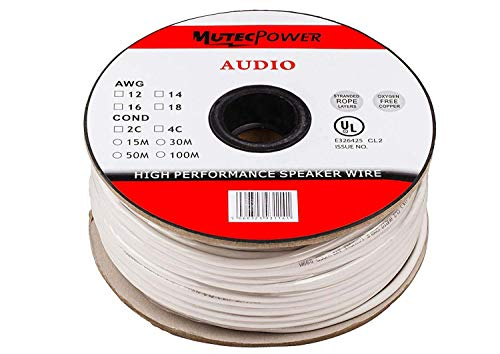 Cable para altavoces MutecPower - 2 x 4mm² (12AWG) 100 m, con...
