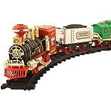 MWT TOYZ choochoo Vintage Big Track Train with Real Smoke and Musical Sound Flashlight- Multicolor