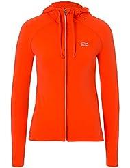 Sport niña & Mujer Tenis/Fitness/deportivo Chaqueta con capucha, todo el año, color naranja, tamaño small