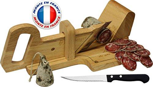 Le-Berger-Guillotine-Trancheuse--Saucisson-La-montagnarde-Couteau--pain-Offert