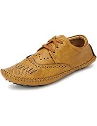 Fucasso Men's High Quality Synthetic Smart Fit Casual Brown Driving Shoes