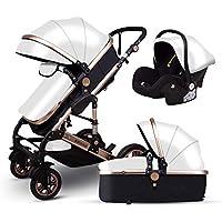 Znesd Bebé 3 en 1 carro de bebé con convertible assinet reversible e IMPACTO, Almacenamiento extra-grande, su durabilidad, diseño plegable compacto