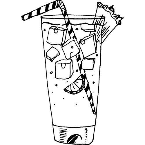 Azeeda A7 'Cocktail' Timbro di Gomma Non Montato (RS00000710)