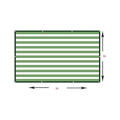 DUO Voiles d'ombrage Toile de rectangle de tissu d'ombre de 90% - tissu perméable UV de bloc Patio durable extérieur - adapté besoins du client disponible (taille : 4×2m)