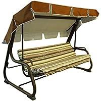 Reti Gritti - Recambio completo (incluido toldo para el techo) para balancín de 4plazas (170 cm)., 170-beige