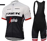 ADKE Completo Abbigliamento Ciclismo Uomo Estivo, Maglia Ciclismo Maniche Corte e Pantaloncini Bicicletta Cort