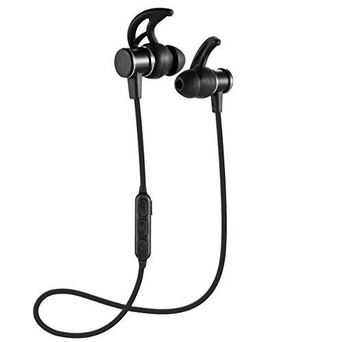 Auriculares Bluetooth Cascos Bluetooth magnéticos y deportivos, Auriculares inalámbricos con Bluetooth 4.1 para running (resistentes al sudor, estéreo, micrófono incluido, cancelación de ruido)
