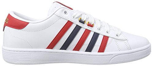 K-Swiss Hoke Cmf Herren Sneakers Weiß (White/Ribbon Red/Dress Blues 164)