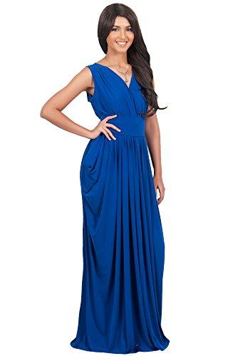 KOH KOH® Femmes Robe Sans Manches Femme Demoiselle d'honneur Bleu Colbat