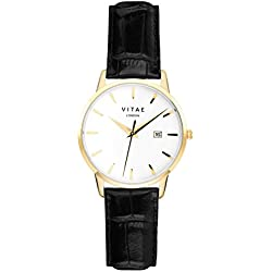 Black/Gold Kleinskool 40mm Watch by Vitae London