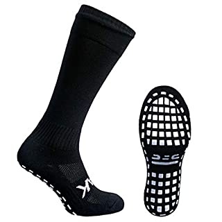 Atak Sports Men's Full Length Non Slip Sports Socks, Black, 9-12