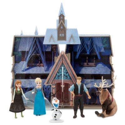 Figuren Kostüme Peter Pan (Frozen Castle Playset beinhaltet eine offene Burg und Anna, Elsa, Sven, Olaf und)