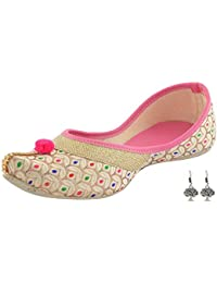 Babes Women's Rajasthani Synthetic Shoes